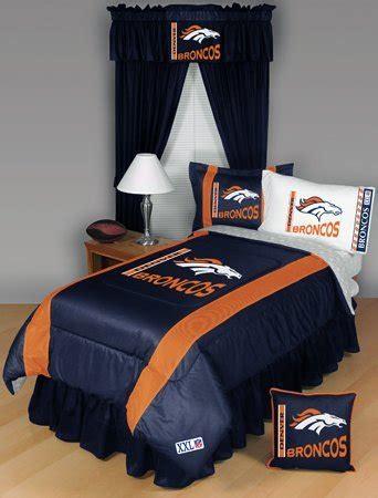 denver broncos bed set denver broncos 5 bedding set boy football nfl bag 106 99