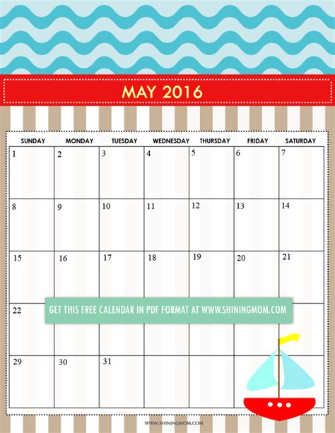 free printable cute planner 2016 12 free printable calendars for may 2016