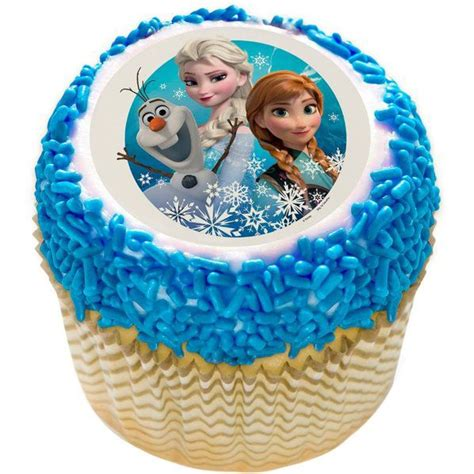 disney frozen  edible cupcake topper wholesale individualized decorations