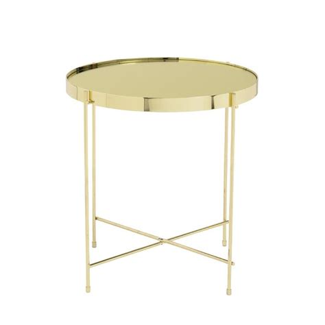 gold round side table white drawers gold legs side table
