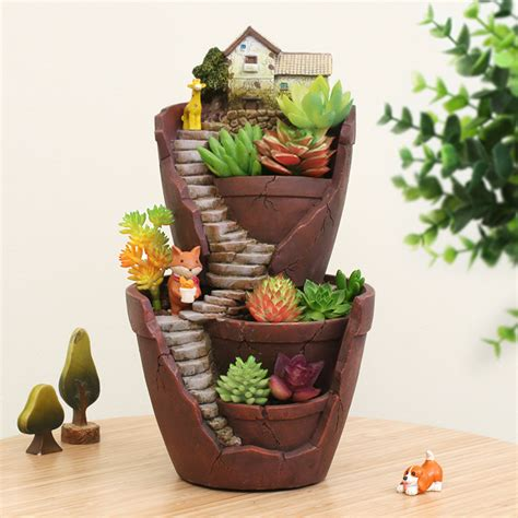 flower pot sale keybox resin flower pot succulent hot sale plants pot