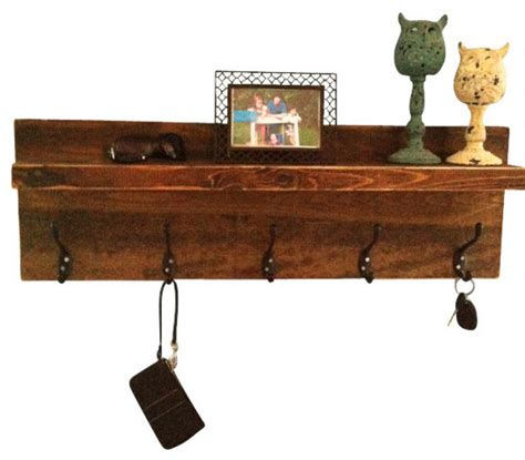 rustic wood wall shelves rustic entryway shelf and coat rack rustic display and