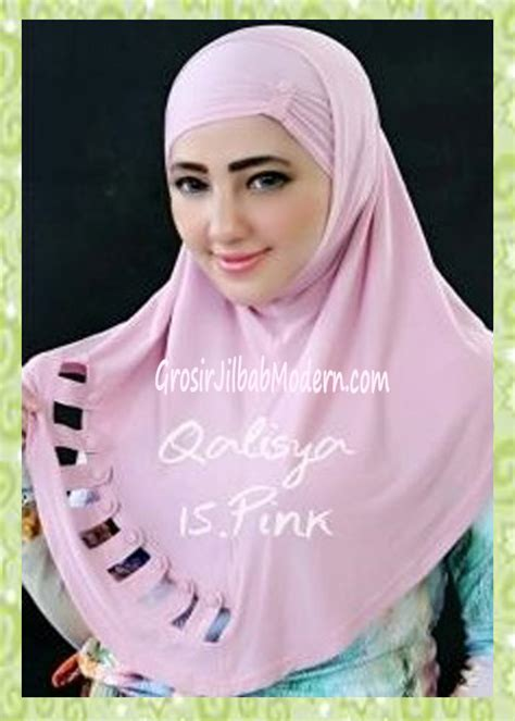 Jilbab Instan Qalisya jilbab syria modis nuha original by qalisya no 15 pink grosir jilbab modern jilbab cantik