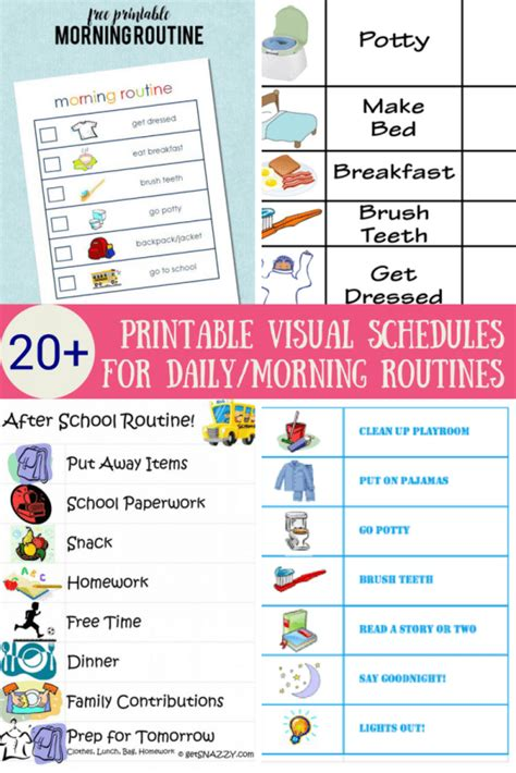 free printable daily visual schedule the ultimate list of printable visual schedules to make