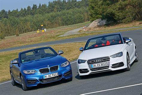 Bmw M235i Vs Audi S3 by Cabrios Audi S3 Vs Bmw M235i Bilder Autobild De