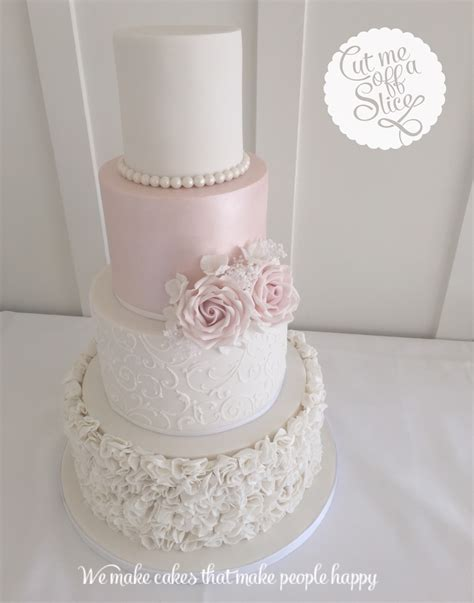 white and pink white on pink wedding cake male models picture