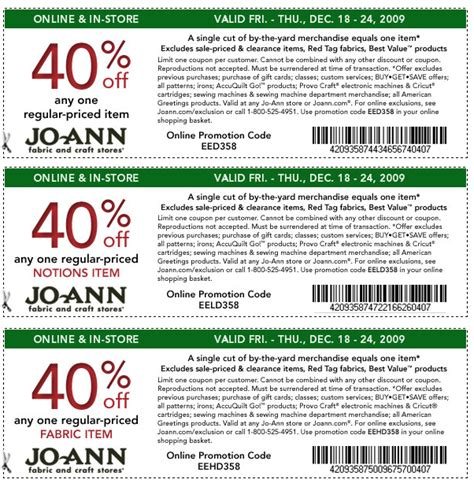 Where Can I Buy Joann Fabrics Gift Cards - joann fabrics coupons printable coupons online
