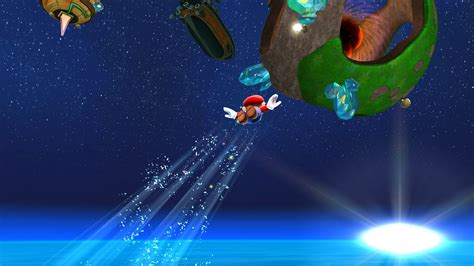 wallpaper mario galaxy flying to a planet super mario galaxy wallpaper