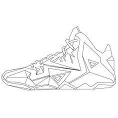 lebron 12 shoes coloring sheets coloring pages
