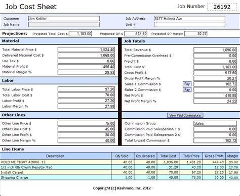 flooring software for job costing and commissions