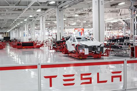 tesla factory tesla just doubled its already outrageous production goal