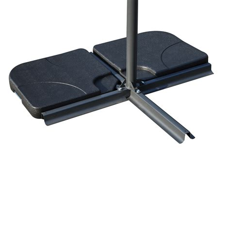 patio umbrella base outsunny 4 offset patio umbrella base weight set