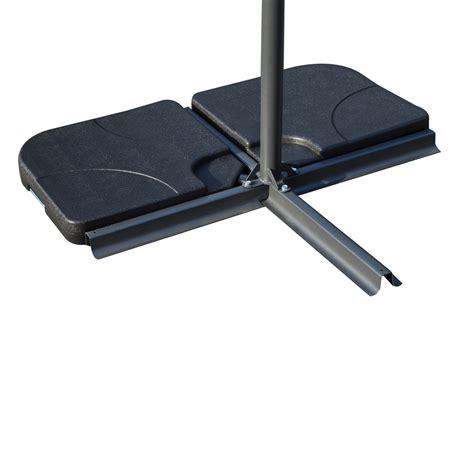 Outsunny 4 Piece Offset Patio Umbrella Base Weight Set