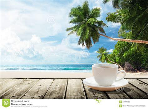 beach  cup  coffee stock photo image