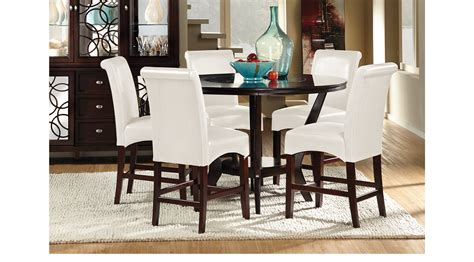 adelson chocolate 5 pc counter height dining room dining highland park ebony 5 pc counter height dining room