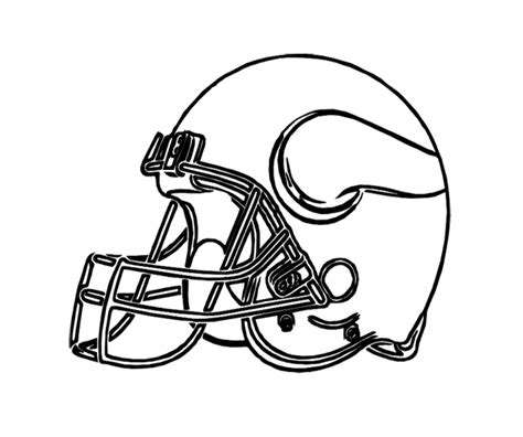 nfl vikings coloring pages football helmet vikings minnesota coloring page for kids