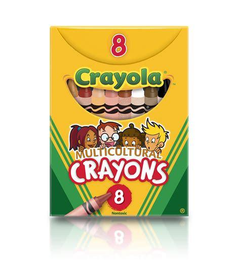 crayola 8 ct regular size multicultural crayons jo