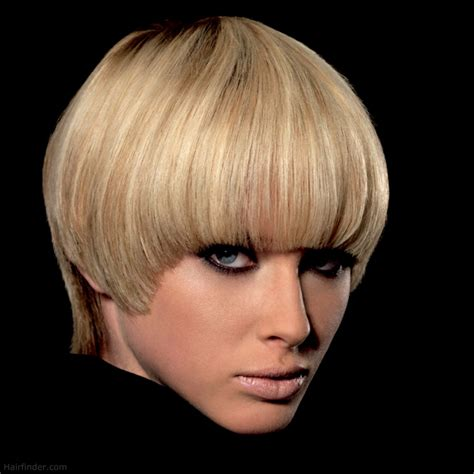 A Hairstyle by Purdey Cut Hairstyle With An Elongated Neckline