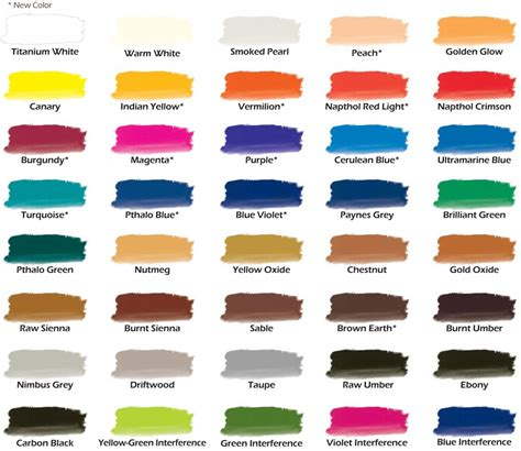 chroma color chroma airbrush paint new color chart with more colors