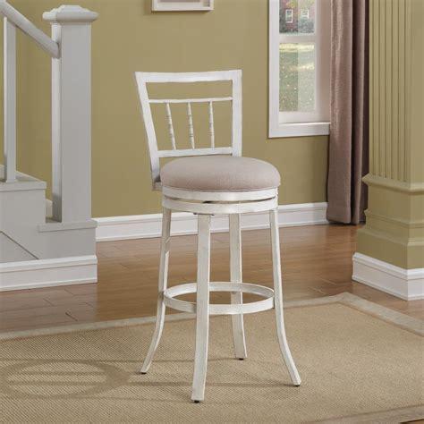 antique white swivel bar stools american woodcrafters palazzo 30 in antique white swivel