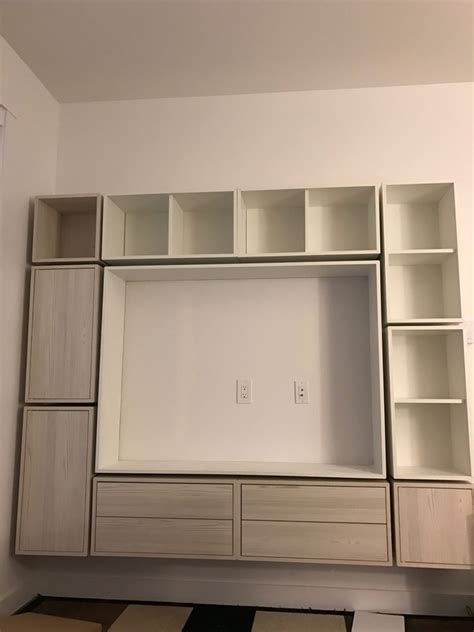 Craft Ideas For Bathroom Valje Entertainment Center Ikea Hackers