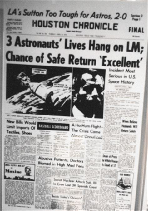 The Press The Tech Headlines Shiny Shiny 13 by Apollo 13 Newspaper Headlines