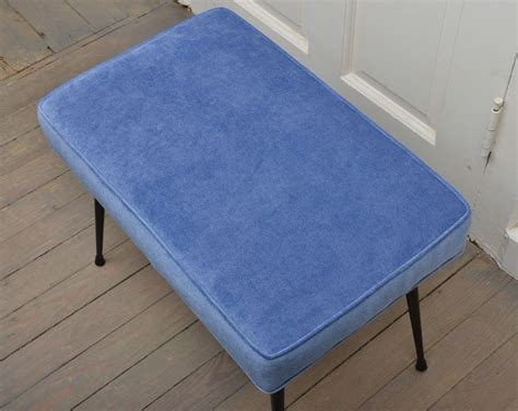 blue upholstered bench pair of blue upholstered benches at 1stdibs