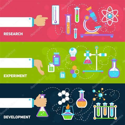 chemistry design banners stock vector  macrovector