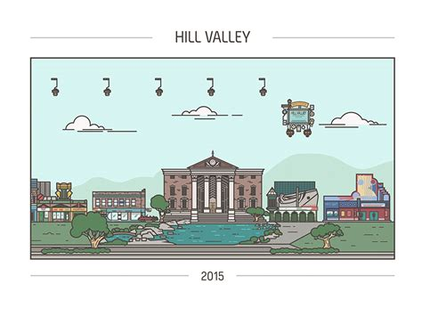hill valley design back to the future hill valley x4 m gulin