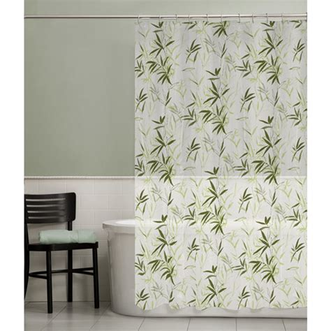 maytex zen garden peva vinyl shower curtain green