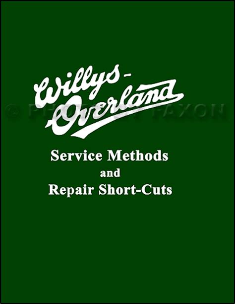 willys overland logo 1910 1919 willys knight and overland repair shop manual
