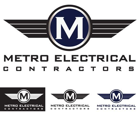 design logo electrical logo design for metro electrical contractors by