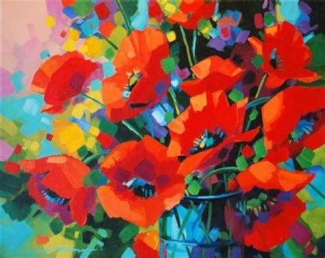 acrylic painting floral acrylic flower paintings by w bowman