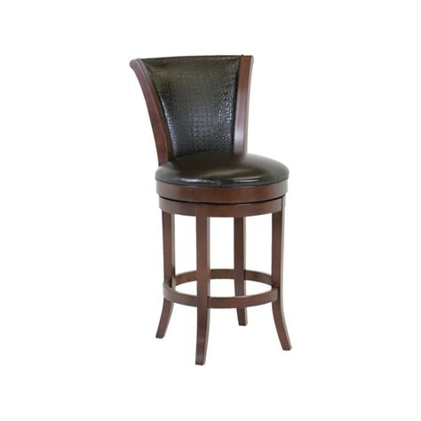 leather swivel bar stools with backs classic leather 7674asb barstool parker upholstered back