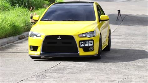 mitsubishi yellow modified yellow mitsubishi lancer feature 4k