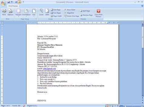 cara membuat lamaran kerja ms word blog c cara membuat surat lamaran kerja
