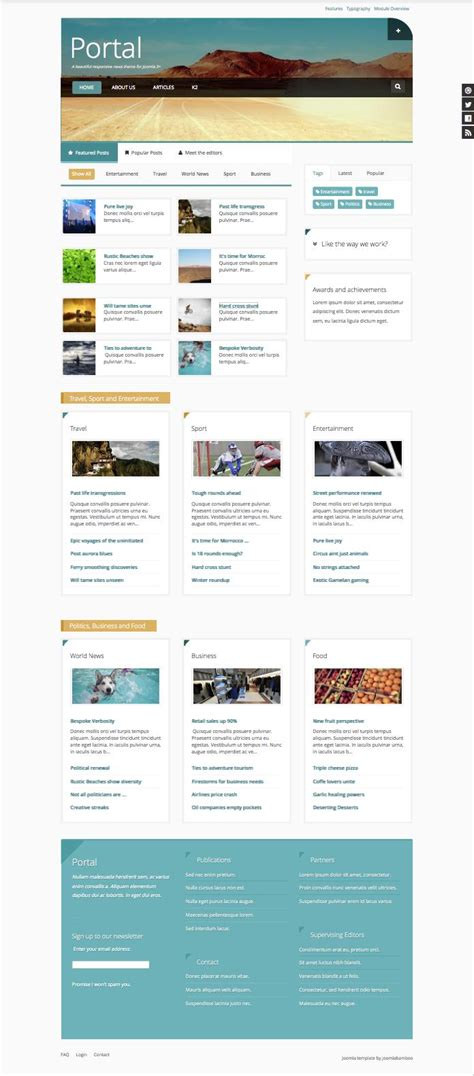 portal joomla minimal template for news portal magazine