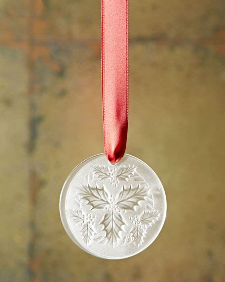 lalique 2014 clear mistletoe christmas ornament