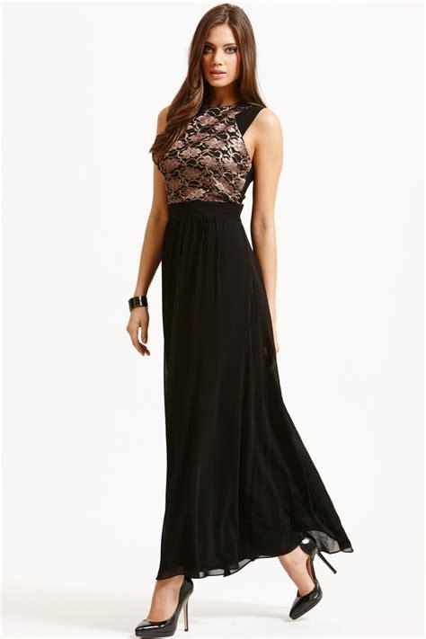 Dress Sofia White Black Maxi black metallic lace maxi dress from uk