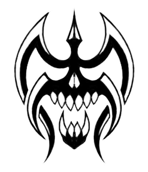 simple tribal skull tattoo designs clipart best