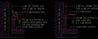 Skirting Detail   Autocad DWG File   Plan n Design