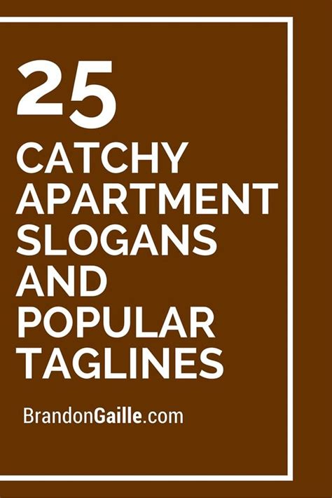 Apartment Specials Ideas Catchy Apartment Slogans And Popular Taglines Property