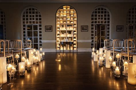Candle Decorations For Wedding Ceremony by Candles Lining Wedding Ceremony Aisle Onewed