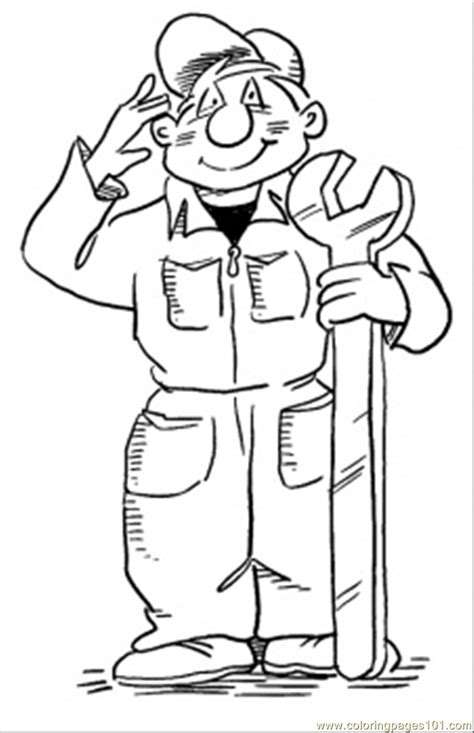 mechanic occupations coloring pages 30796