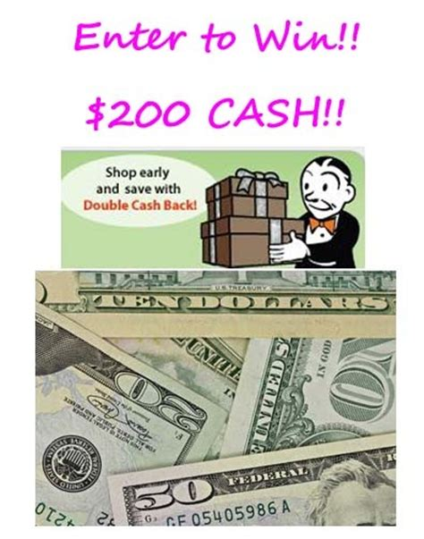 Cash Giveaways Ending Today - giveaway 2 winners get 100 cash each from ebates total value 200