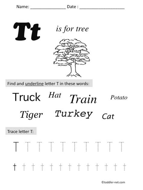 Letter T Worksheet Kindergarten by Free Printable Letter T Preschool Worksheet