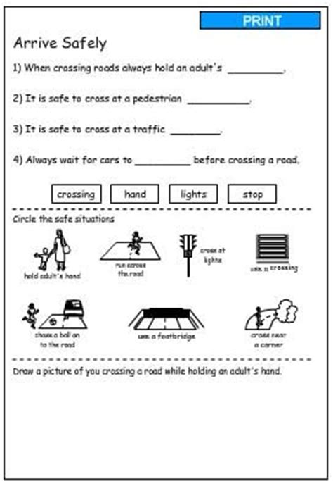 printable road safety games arrive safely printable health safety and citizenship
