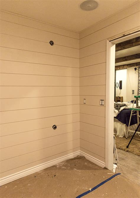 Shiplap Wall Pictures Diy Shiplap Tutorial The Easy And Inexpensive Way
