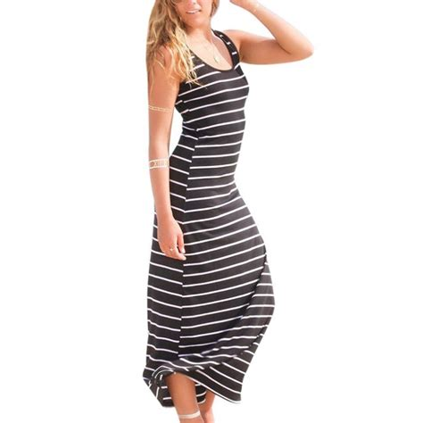 dress anak casual striped striped maxi dress casual sleeveless vest