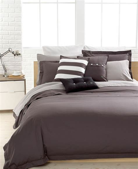 lacoste comforters closeout lacoste solid grey brushed twill comforter and